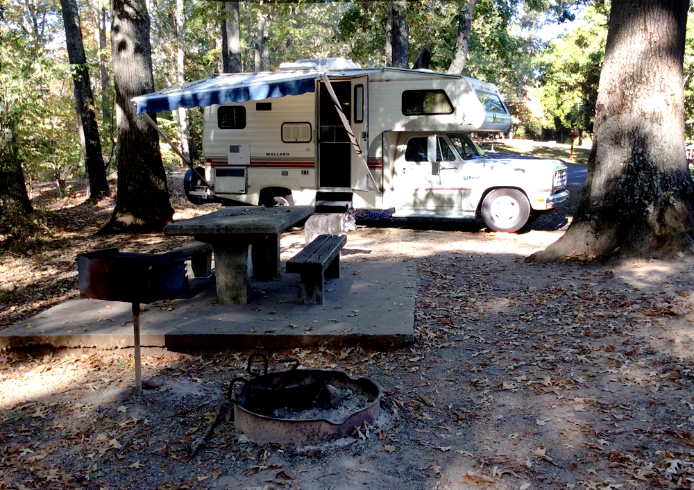 warriors path state park campsite #27