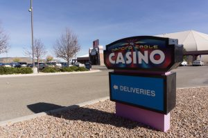 sign at dancing eagle casino in paraje nm